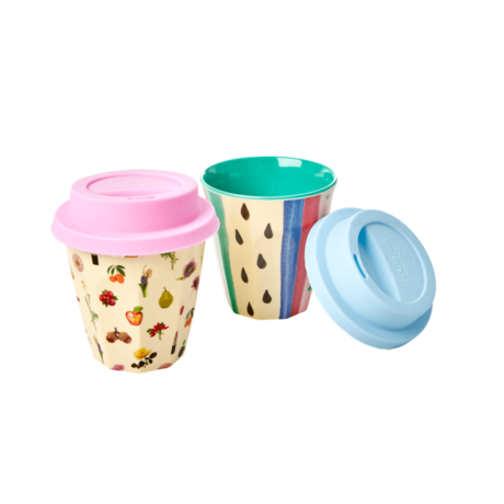 Rice DK | Melamine Silicone Small Cup Lids Pastels