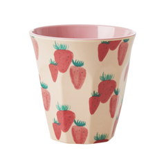Rice DK Strawberry Print Two Tone Melamine Cup