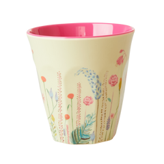 Rice DK Candy Summer Flowers Sage Green Two Tone Melamine Cup