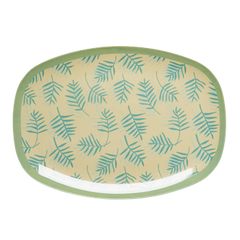 Rice Dk | Melamine Rectangular Tray Palm Leave Print