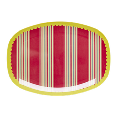 Rice Dk | Melamine Rectangular Tray Striped Print