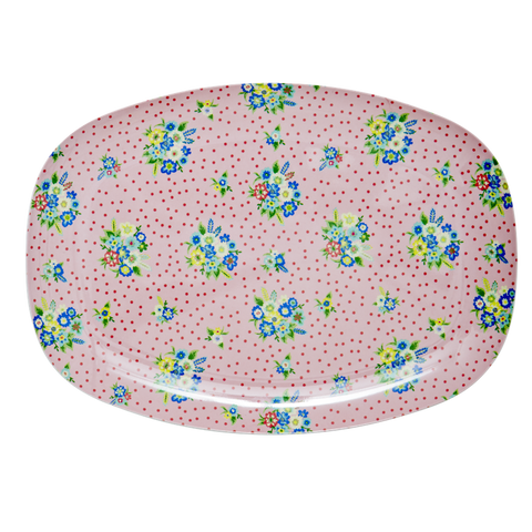 Rice DK Melamine Trays | Flowers and Berries Print