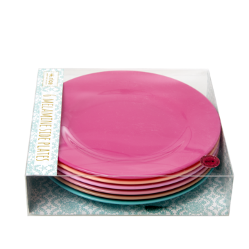 Rice DK | Melamine Set of 6 Lunch Plates in 'Life is better in Colors'