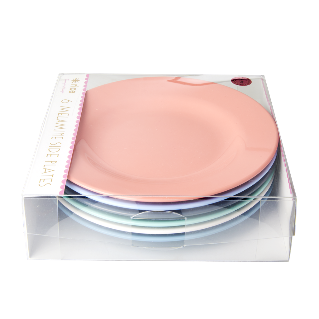 Rice DK | Melamine Set of 6 Lunch Plates in Happy Colors