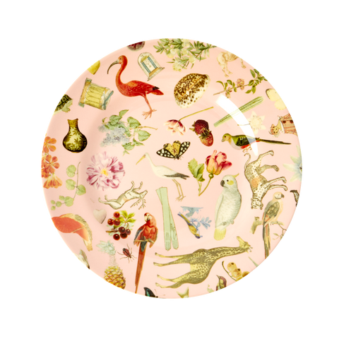 Rice DK Pink Art Print Two Tone Melamine Lunch Plate - JOËLLE WEHKAMP