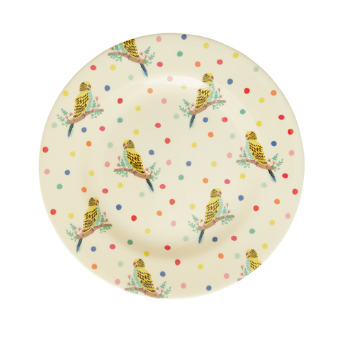 Rice DK Budgie Two Tone Melamine Lunch Plate