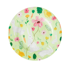 Rice DK Green Easter Two Tone Melamine Lunch Plate
