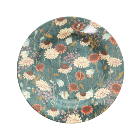 Rice DK Fall Flower Print Side Plate