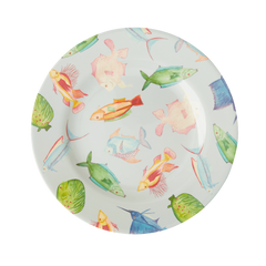 Rice DK Fish Two Tone Melamine Lunch Plate