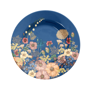 Rice DK Fall Flower Collage Print Side Plate