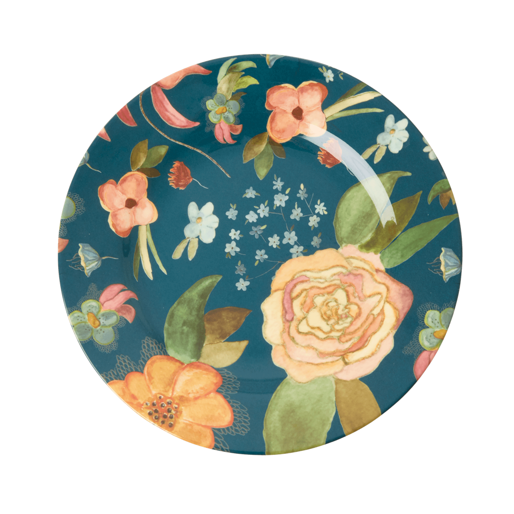 Rice DK | Two-Tone Melamine Lunch Plate Selmas Fall print