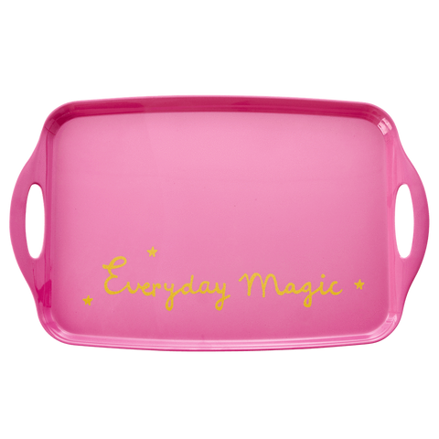 Rice Dk | Melamine Tray Gold Text 'Everyday Magic'