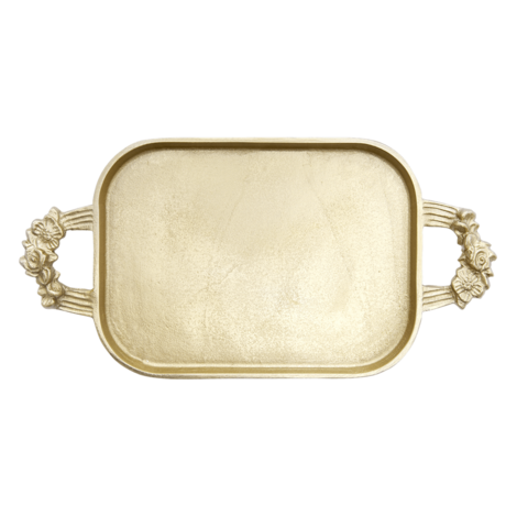 Rice Dk | Melamine Tray in Brass Look