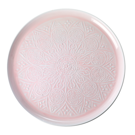 Rice Dk | Metal Round Tray with Embossed Detail