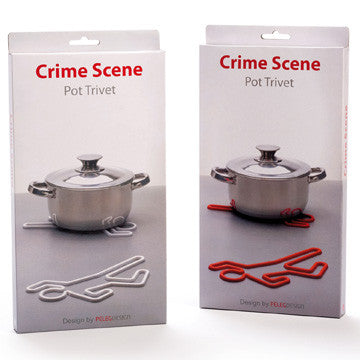 Peleg Design | Crime Scene Pot Trivet | Unique Kitchen accessory gifts