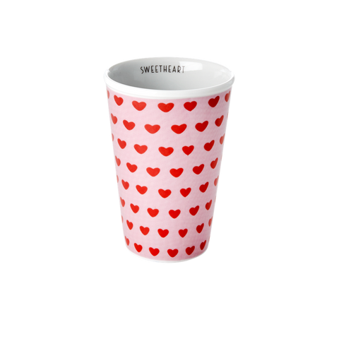 Rice DK  Sweet Heart Print Tall Porcelain Cup