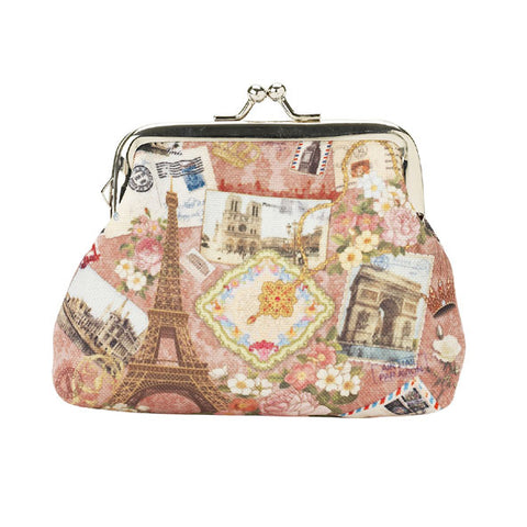 Lisbeth Dahl Small Rose Paris Purse/Wallet
