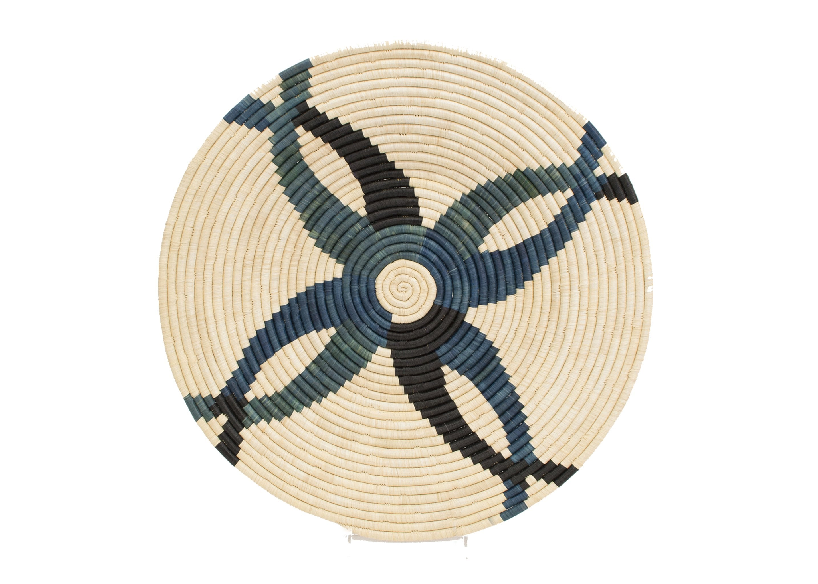 "21"" Large Cool Benoite Woven Wall Art Plate"