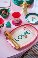 Rice DK Melamine Cups with Christmas Love Print