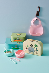 Rice DK | SILICONE BOWL IN BABY PINK WITH SUCTION CUP BASE - GIFTBOX