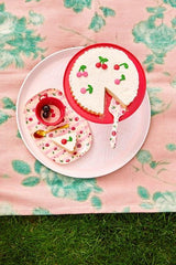 Rice Dk | Rectangular Melamine Plate with Cherry Print
