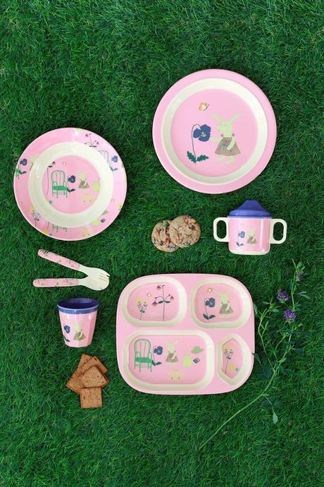 Rice DK Pink Bunny and Cherry Print Plate