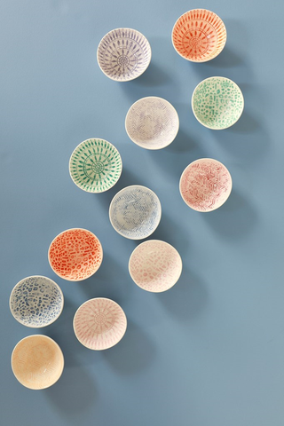 Rice DK Set of 6 Ceramic Dipping Bowls in Assorted Colors