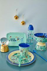 Rice Dk Lunchbox Divider with 3 Inserts-Blue Space Print