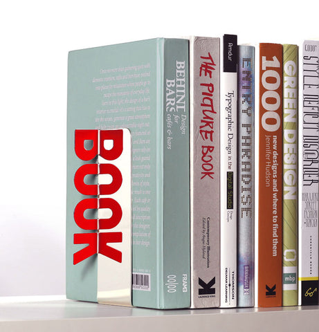 Peleg Design Typographic Reflective Book End | Cool Stuff to Buy