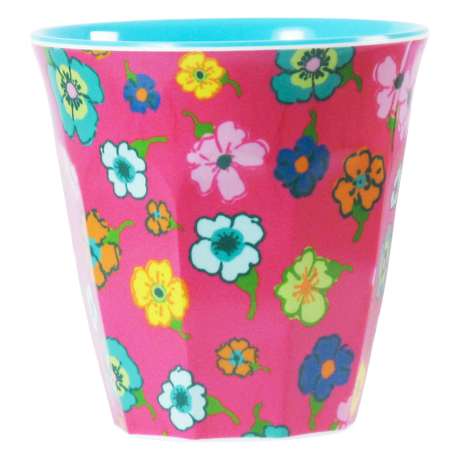 Rice DK Two Tone Melamine Cup Happy Flower Print