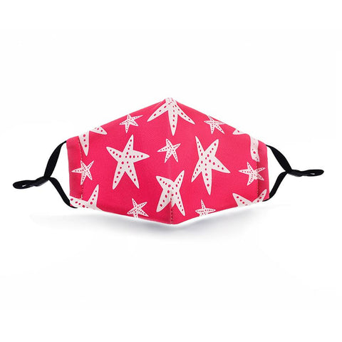 Cool Stars Print Washable Mouth Mask + 2 Protective PM2.5 Filters