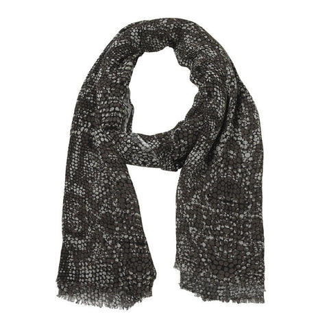 Lisbeth Dahl Viscose Scarf with Snakeskin Pattern