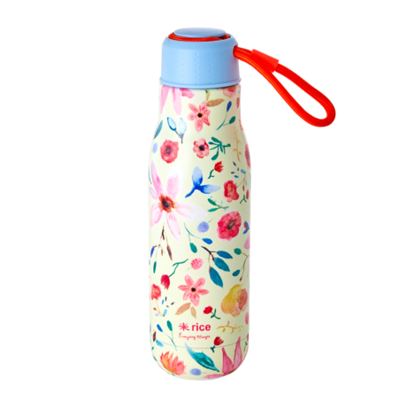 Rice DK STAINLESS STEEL DRINKING BOTTLE WITH SELMAS FLOWER PRINT - 500ML
