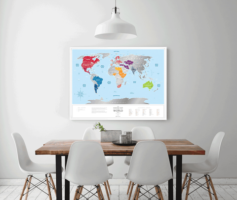 Ideail | Travel Map Silver World