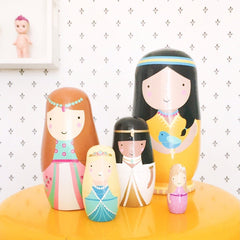 Psi | Nesting Dolls - Princesses Matrioskas