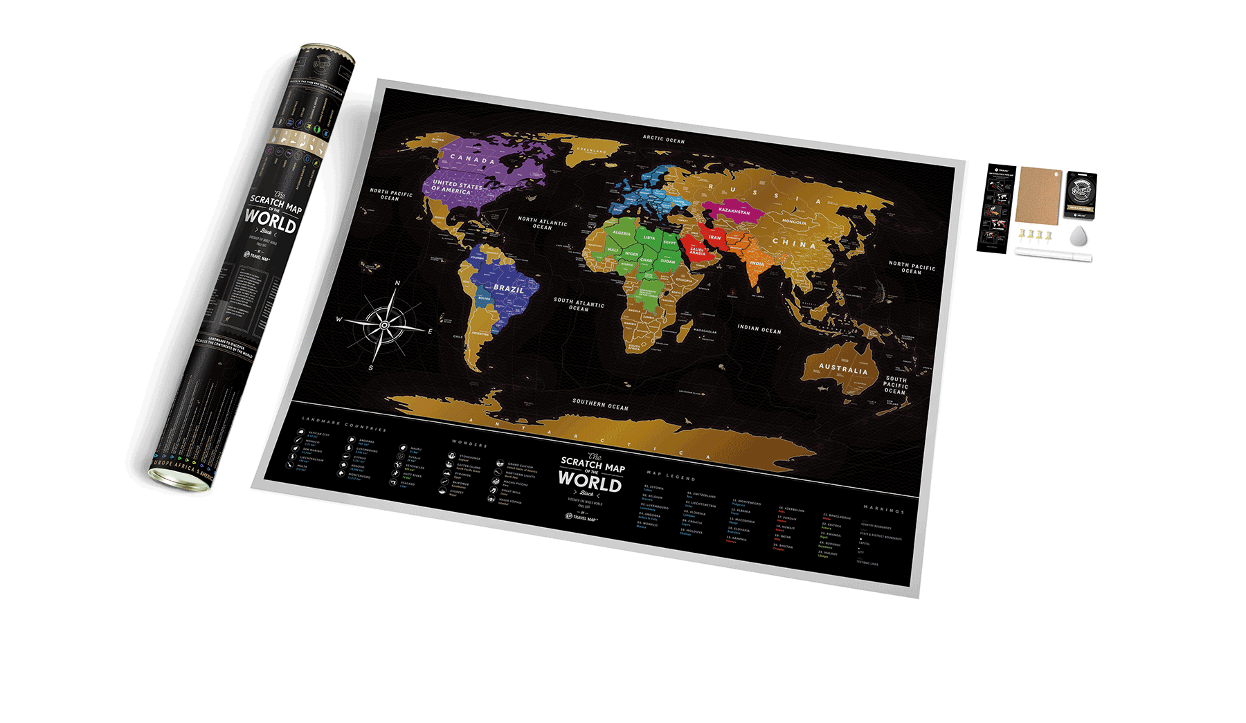 Ideail | Scratch Map Black