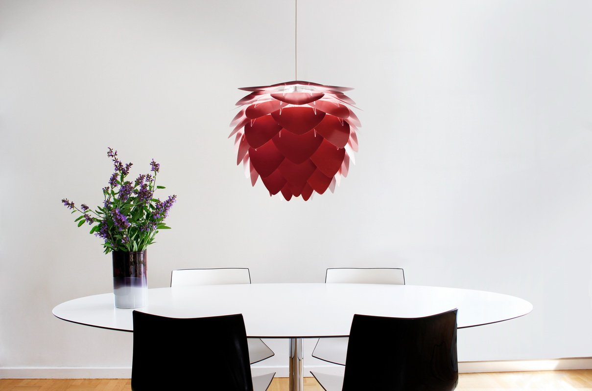Umage Lighting | Large Ruby Red Aluminum Pendant Shade