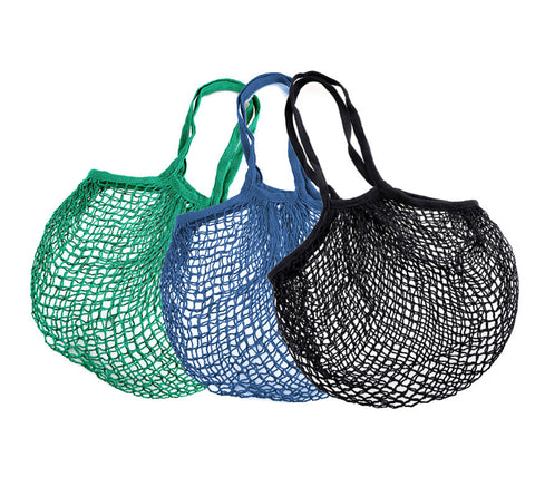 Set of 3 Cotton Mesh Linen Eco Bags | Cool Eco Bags