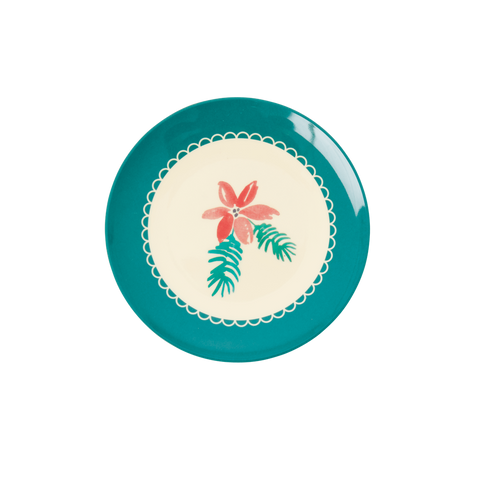 Rice DK Melamine Desert plates with Flower Christmas Themes