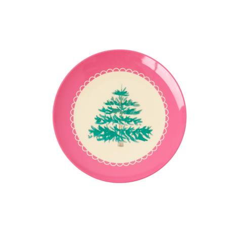 Rice DK Melamine Desert plates with Christmas Tree-