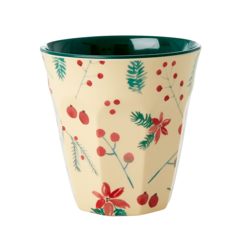 Rice DK Melamine Cups with Christmas Poinsettia Themes