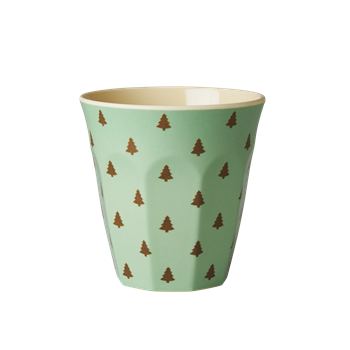 Rice DK | Two Tone Melamine Cup Mini Christmas Trees Print
