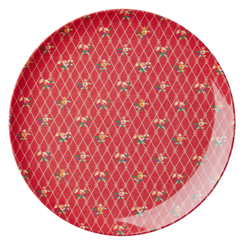 Rice Dk | X-mas Melamine Side Plate with Flower Print