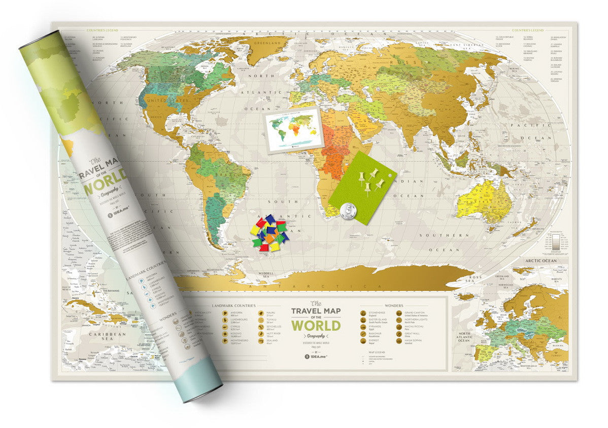 Ideail | Travel Map Geography World