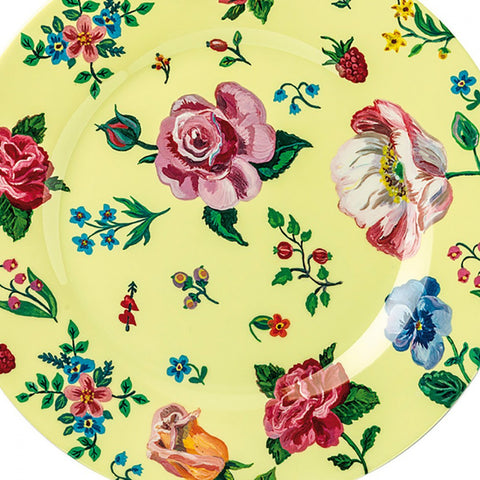 Petit Jour Melamine Side Plate Yellow Flower Print