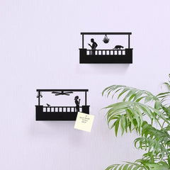 Artori Design | Balcony - Wall Mount Metal Shelf for Doorways - Woman