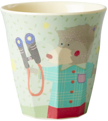 Rice Dk | Boys 'Happy Animals' Print Melamine Cup