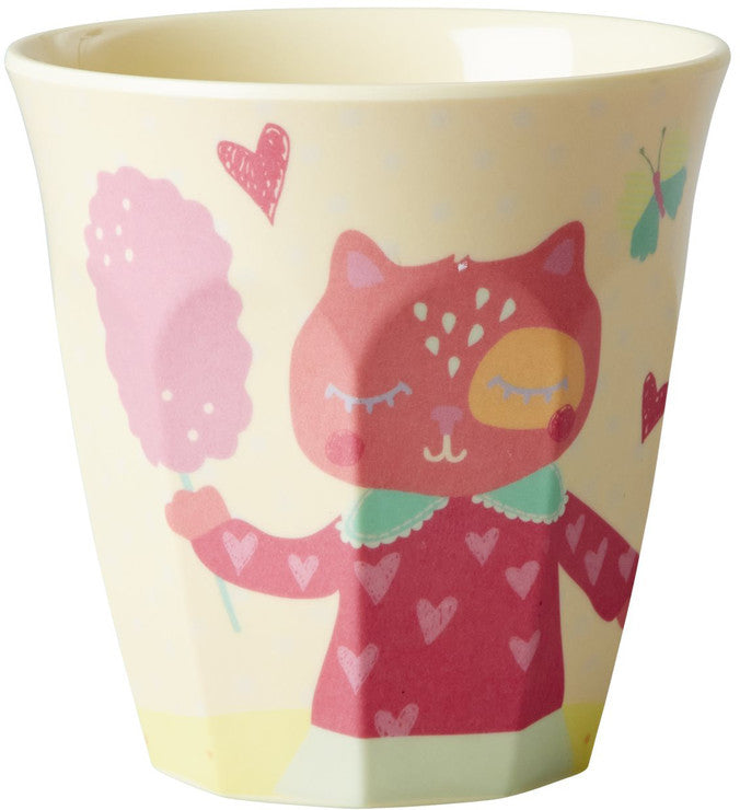 Rice Dk | Girls 'Happy Animals' Print Melamine Cup