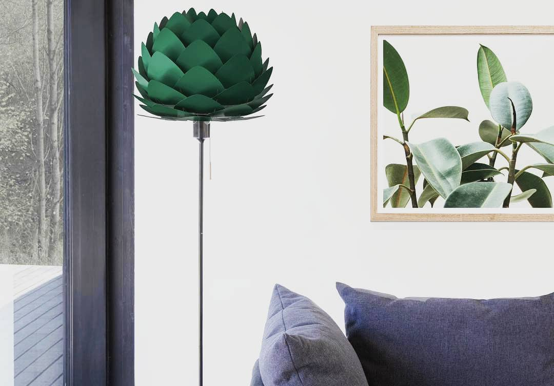 Umage Lighting | Mini Aluvia Forest Green Aluminum Pendant Shade