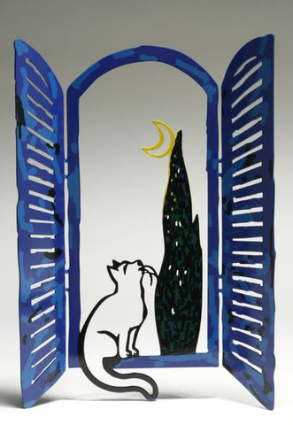 David Gerstein | The Cat & the Moon from the Windows Series Collection | BellaKoola
